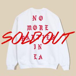 「NO MORE PARTIES IN LA」SWEATSHIRT  / WHITE (送料込み)