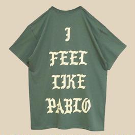 「I FEEL LIKE PABLO MILITARY GREEN T SHIRT」-AMSTERDAM- / (送料込み)