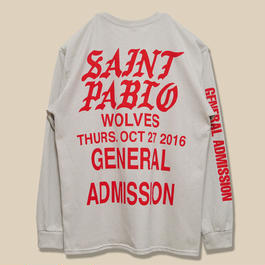 「SAINT PABLO TOUR」WOLVES LONG SLEEVE T-SHIRT / SAND (送料込み)