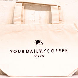 YOUR DAILY COFFEE オリジナルトート ホワイト