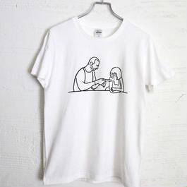 T-shirt Man and girl - White -