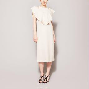 No.7  PRESSED WOOL DRESS