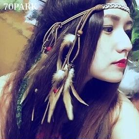 #Mix Feather Headband ミックスフェザーヘッドバンド