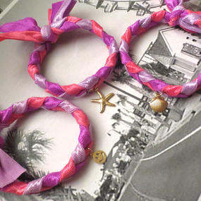 #Hair Tie Bracelet -Pink- ヘアタイブレスレットピンク