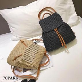 #Basket  Backpack ナチュラル かご バックパック 全2色 カゴバッグ リュック