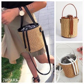 # 2way Gold Ring Basket Bag  ゴールドリング かご ショルダー バッグ 全3色  カゴバッグ
