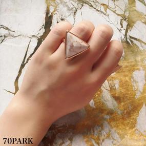 #Marble triangle ring 大理石風トライアングルリング