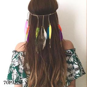 #Color Feather Headband カラフル フェザー ヘッドバンド ヘアアクセ