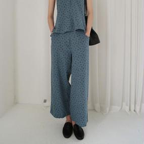 summer flower linen pants (set item)