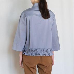 frill hem cotton shirt