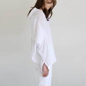 linen mix cocoon blouse