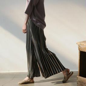 crinkle stripe easy pants