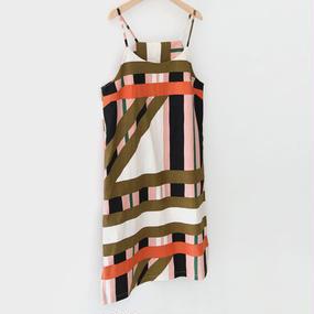 modern pattern cami one-piece