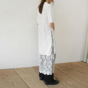 sensitive lace long dress