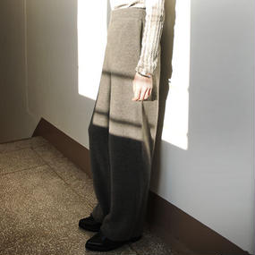 relax knit easy wide pants