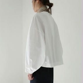 solid sleeve volume blouse