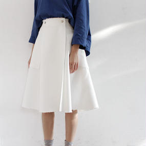 △15%off△rough cutting flared wrap skirt