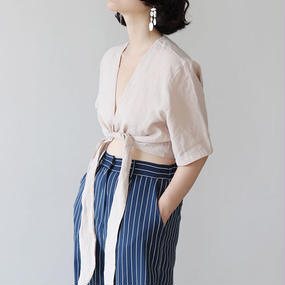 -2colors- cache-coeur cropped shirt