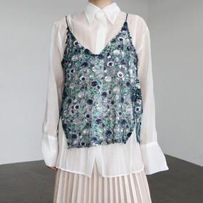 flower spangle dress camisole