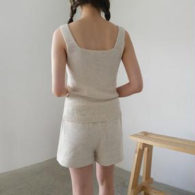 summer knit set up (camisole + pants)