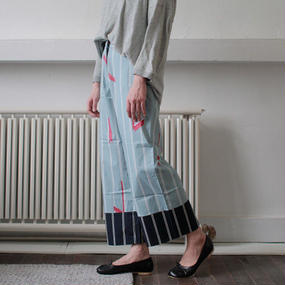 stripe pattern dress pants