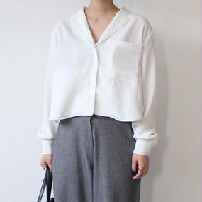 hand stitch cropped blouse