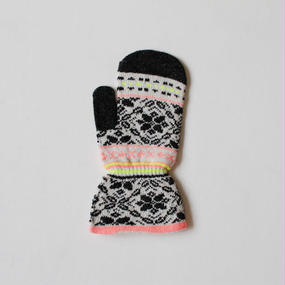neon color snow PT mitten