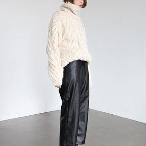 -hand made- oversize high neck knit