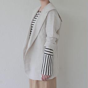 sailor collar linen jacket