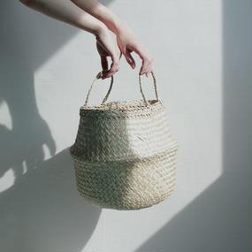 oval basket bag -small-