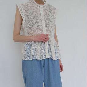 see-through emb blouse