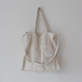 pocket pointed 2way canvas bag
