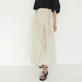 -2 colors- rap design linen pants