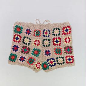 colorful crochet shorts