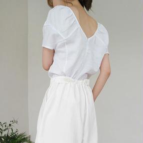 solit pattern gather blouse