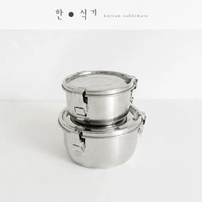 ●kitchen item●stainless lunch box-middle-