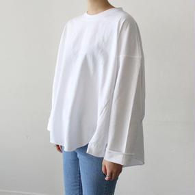-5colors-  volume design slit t-shirt