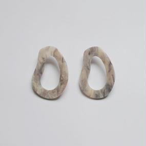 -2 colors- marble image pierced earrings