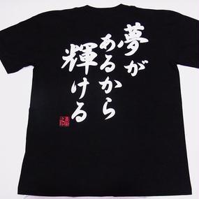 夢があるから輝ける T-shirt  (Apx. $27) تيشيرت هيكاري جا ارو كارا