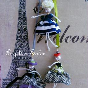 セット割+送料無料!angelicaオリジナルタッセル パリジェンヌ バレエの衣装に合わせてオーダーと ジュエリーボックスセット!