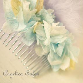 プリザーブドフラワー紫陽花のコーム
