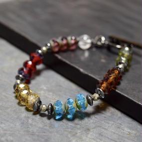 """アルクス チェコガラス シングル ブレス〈アルクス〉""""ARCUS czechglass single bracelet(ARCUS)"""""""