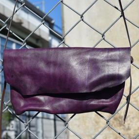 """ショルダーレザー  ガジェットインナーバッグ""""shoulder leather GADGET inner bag"""""""