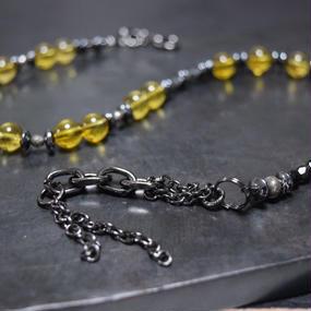 """シトリン ラップ ブレス〈チェーンテール〉""""CITRIN wrap bracelet (chain tail)"""""""