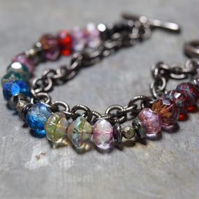 アルクス チェコガラス チェーンブレス〈ランダム〉''ARCUS czechglass chainbracelet(random)''