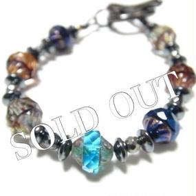 アルクス チェコガラス 14K ブレス  ''ARUCS czechglass 14goldfilled bracelet''