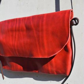 """ショルダーレザー ガジェットインナーバッグ〈ブラッド〉""""shoulder leather GADGET inner bag(blood)"""""""