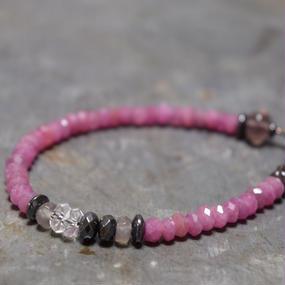 """ルビー AA シングル ブレス""""RUBY  AA single bracelet"""""""