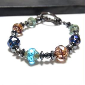 """アルクス チェコガラス ブレス<マルチカラー>""""ARUCUS czechglass bracelet(multi color) """""""