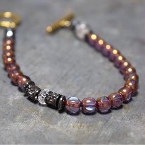 """アルクス チェコ ガラス シングル ブレス〈オーロラ〉""""ARCUS czechglass single bracelet(AURORA)"""""""